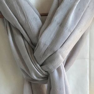 Charter Club Lt Gray Fine Weave Wool Shawl/Scarf